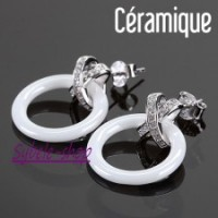Boucles d'oreilles Céramique & Argent
