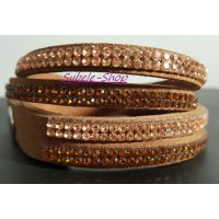 Bracelet Strass Or Doré Multi-tours